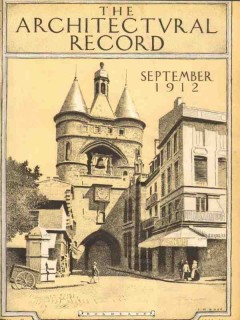 architectural record 1912 jm rose bordeaux great bell print