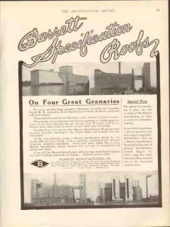 barrett mfg company 1912 canadian pacific rr granaries roof vintage ad