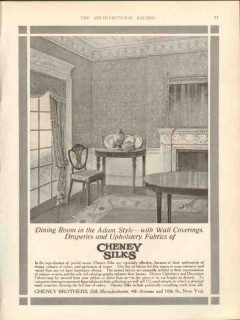 cheney brothers 1912 dining room in adams style silks vintage ad