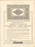 m j whittall 1912 the beauties of persia reproduced rugs vintage ad