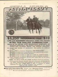 aetna life insurance company 1912 aetna-ized ten dollar vintage ad