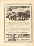 pratt lambert inc 1912 vitralite long life white enamel vintage ad