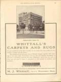 m j whittall 1912 hillsboro hotel tampa fl carpets rugs vintage ad