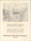marshall field company 1912 decorate furnish country homes vintage ad