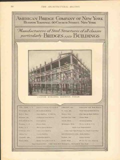 american bridge company 1912 carter building houston tx vintage ad