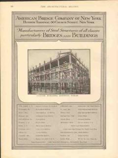 american bridge company 1912 carter building houston tx vintage ad