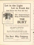 burt mfg company 1912 let in light fresh air ventilation vintage ad