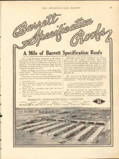 barrett mfg company 1912 bush terminal brooklyn ny roof vintage ad