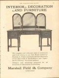marshall field company 1912 interior decoration furniture vintage ad