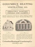 columbus heating ventilating company 1910 sanitary urinals vintage ad