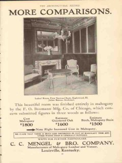 c c mengel brother company 1910 first nat bank englewood il vintage ad
