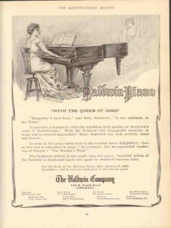 baldwin company 1910 mme sembrich with the queen of song vintage ad