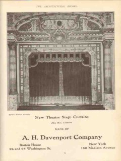a h davenport company 1910 new theater stage box curtains vintage ad