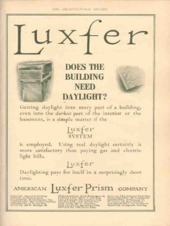 american luxfer prism company 1910 building need daylight vintage ad