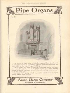 austin organ company 1910 building pipe organs vintage ad