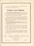 barber asphalt paving company 1910 positive seal method vintage ad