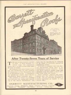 barrett mfg company 1910 city building st john nb ca roof vintage ad