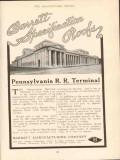 barrett mfg company 1910 pennsylvania rr terminal nyc roof vintage ad