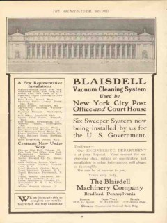 blaisdell machinery company 1910 six sweeper system vacuum vintage ad