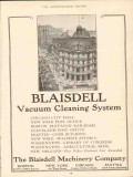blaisdell machinery company 1910 vacuum cleaning system vintage ad