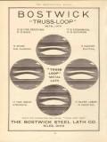 bostwick steel lath company 1910 truss-loop metal lath vintage ad