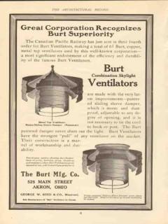 burt mfg company 1910 corporation recognizes vintage ad