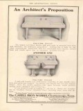 cahill iron works 1910 architects proposition kitchen sink vintage ad