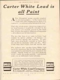 carter white lead company white lead is all paint vintage ad