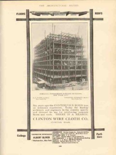 clinton wire cloth company 1910 schlegel investment bldg ny vintage ad