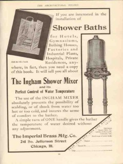 imperial brass mfg company 1910 shower mixer bath plumbing vintage ad