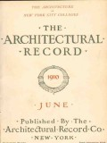 architectural record 1910 june vintage magazine cover