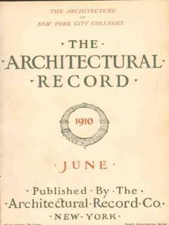 architectural record 1910 june vintage magazine cover