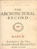 architectural record 1910 march vintage magazine cover
