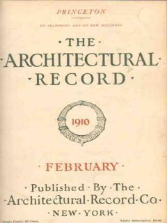 architectural record 1910 february vintage magazine cover