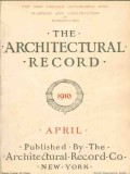 architectural record 1910 april vintage magazine cover