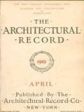 architectural record 1910 april vintage magazine cover