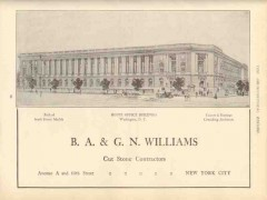 ba and gn williams 1910 house office building washington dc vintage ad