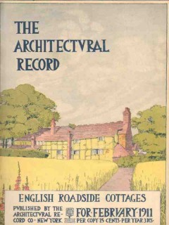 architectural record 1911 eng roadside cottages vintage article cover