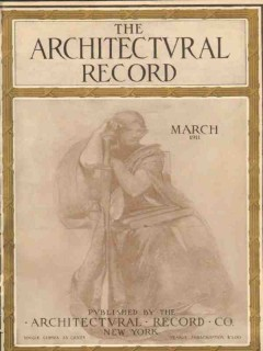 architectural record 1911 cleveland oh arnold brunner vintage cover
