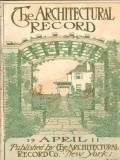 architectural record 1911 april pergola vintage cover print