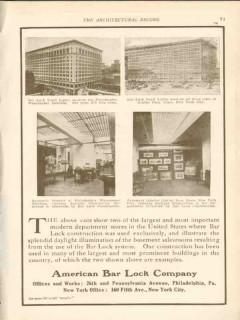 american bar lock company 1911 gimbles brothers building vintage ad