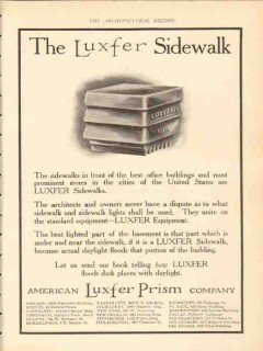 american luxfer prism company 1911 the luxfer sidewalk vintage ad