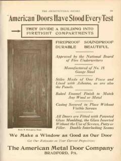 american metal door company 1911 have stood every test vintage ad