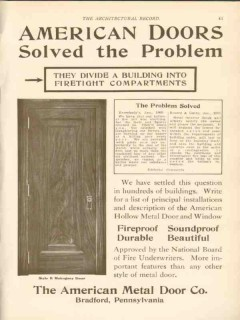 american metal door company 1911 solved the problem vintage ad