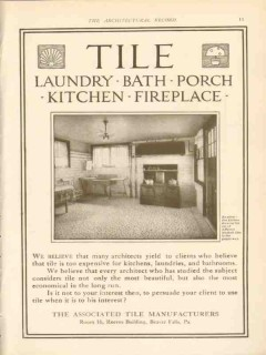 associated tile manufacturers 1911 attractive kitchen tiles vintage ad
