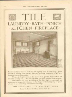 associated tile manufacturers 1911 attractive laundry vintage ad