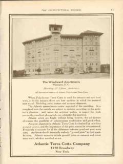 atlantic terra cotta company 1911 the woodward apts wash dc vintage ad
