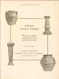 atlantic terra cotta company 1911 quality garden pottery vintage ad