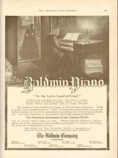 baldwin company 1911 in the lyric land of liszt piano vintage ad
