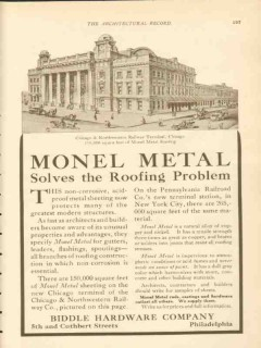 biddle hardware company 1911 chicago nw rr terminal bldg vintage ad
